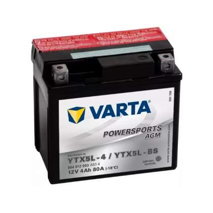 Аккумуляторная Батарея Евро 4ah 80a 114/71/106 Powersports Agm Moto Varta