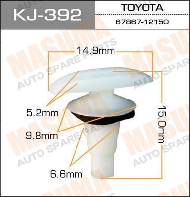 Клипса автомобильная Masuma KJ392