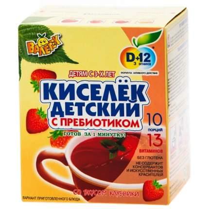 Кисель Валетек киселек детский с пребиотиком клубничный 200 г