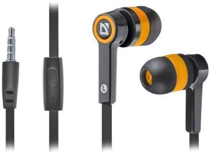 Наушники Defender Pulse 420 Orange/Black