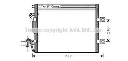 Радиатор кондиционера Ava MSA5392