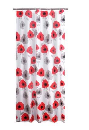 Штора для ванных комнат Poppy красный 180Х200