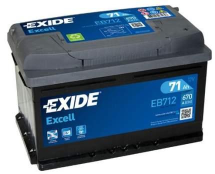 Аккумулятор автомобильный EXIDE EB712 71 Ач