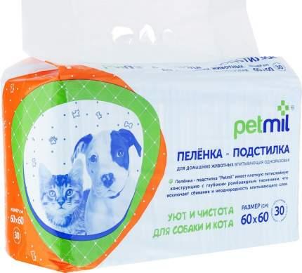 Пеленка-подстилка для домашних животных PETMIL 60x60 cм 30 штук