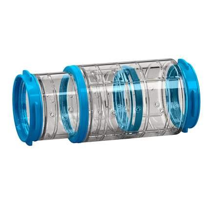Тоннель для грызунов Ferplast пластик, 6х20.2 см, цвет прозрачный, голубой