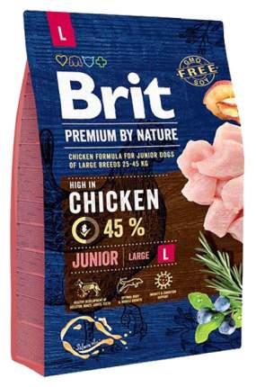 Сухой корм для собак Brit Premium By Nature Adult L, для крупных пород, курица, 3кг