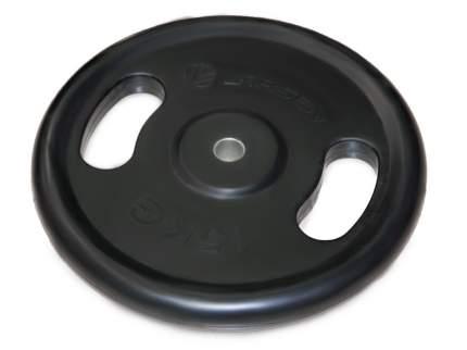 Диск обрезиненный с ручками NT121N чёрный д31мм 15 кг