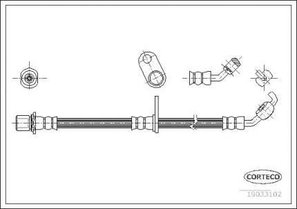 Шланг тормозной системы CORTECO 19033102