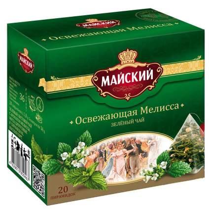 Чай зеленый Майский освежающая мелисса 20 пирамидок