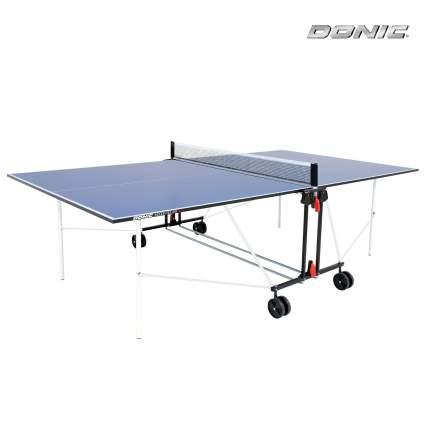 Теннисный стол Donic Indoor Roller Sun голубой, с сеткой