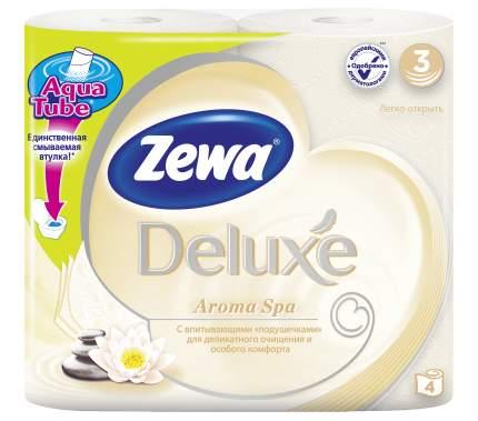 Туалетная бумага Zewa Deluxe АромаСпа, 3 слоя, 4 рулона