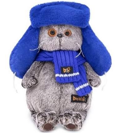 Мягкая игрушка BUDI BASA Кот Басик в меховой шапке 25 см