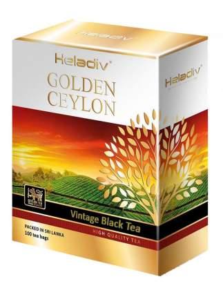 Чай черный  Heladiv golden сeylon vintage black tea 100 пакетиков