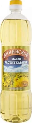 Масло подсолнечное Аннинское рафинированое дезодорированное 0.9 л