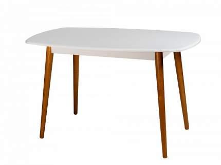 Стол обеденный Мебелик Персей белый/дуб светлый
