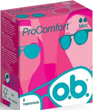 Тампоны o.b. ProComfort мини 8шт