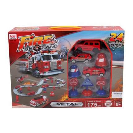Автотрек Наша игрушка электрифицированный Пожарный 068-29