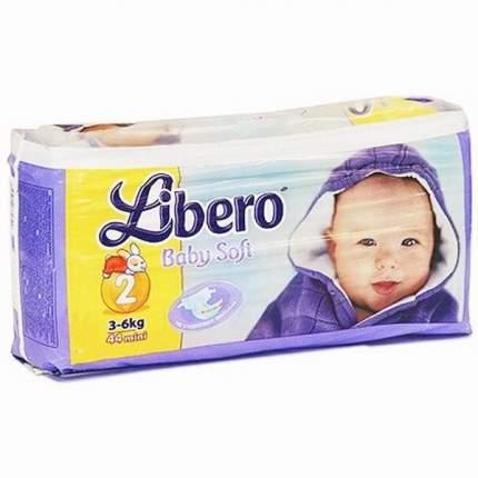 Подгузники для новорожденных Libero 3-6 кг №2 44 шт.