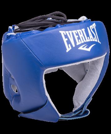 Шлем открытый Everlast USA Boxing 610406U, L, кожа, синий
