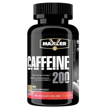 Энергетик Maxler Caffeine, 100 капсул, coffee