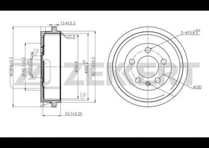 Тормозной барабан ZEKKERT BS-5029