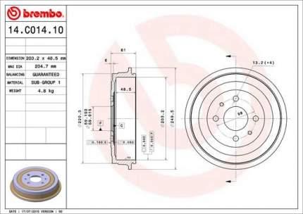 Тормозной барабан BREMBO 14.C014.10