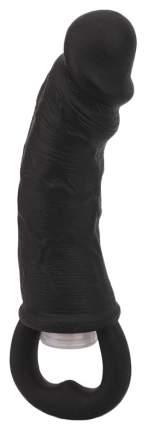 Чёрная вибровтулка-фаллос Erotic Loop Tuggers Hard Core 11,4 см