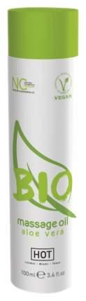 Массажное масло Hot BIO Massage oil aloe vera с ароматом алоэ 100 мл