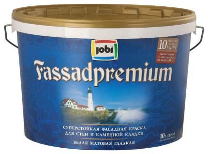Краски для наружных работ JOBI FASSADPREMIUM фасадная премиум 10л  12045