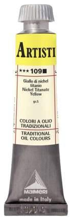 Масляная краска Maimeri Artisti M0102109 желтый титаново-никелевый 20 мл