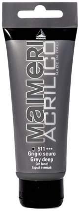 Акриловая краска Maimeri Acrilico M0924511 глубокий серый 200 мл