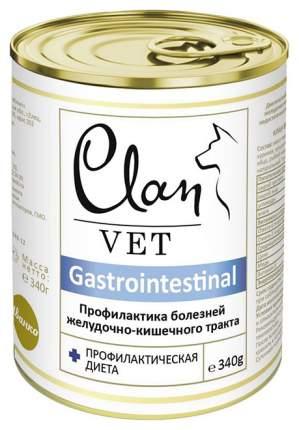Консервы для собак Clan Vet Gastrointestinal, индейка, курица, печень, 340г