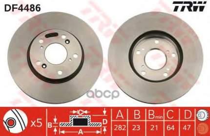 Тормозной диск TRW/Lucas DF4486 передний