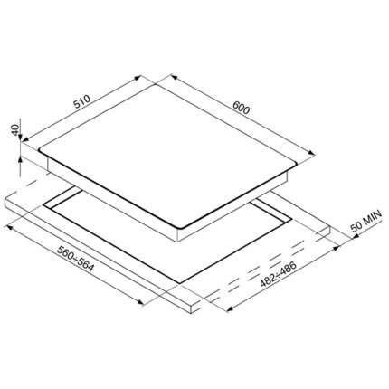 Встраиваемая варочная панель газовая Smeg PV163N Black