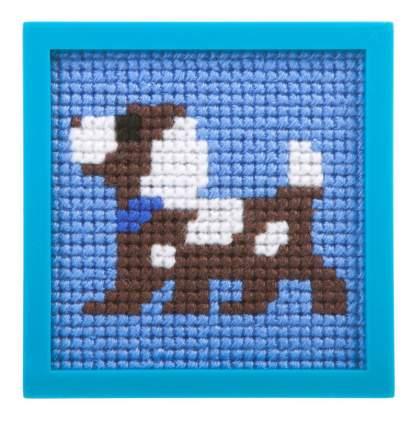 Набор для творчества Bondibon вышивка на пластиковой канве. собачка