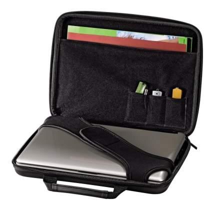 """Сумка для ноутбука 15.6"""" Hama Tech-Fabric Hardcase черная"""