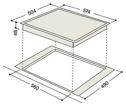 Встраиваемая варочная панель электрическая Hotpoint-Ariston 7HKRO 642 D X RU/HA Black