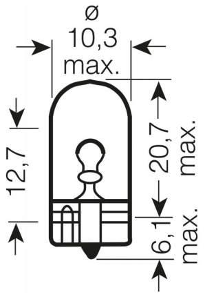 Лампа накаливания автомобильная OSRAM 2W (2820)