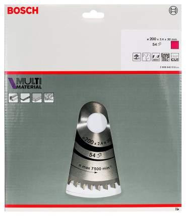 Диск пильный Bosch Multimaterial 200x30мм 54зуб. (2608640510)
