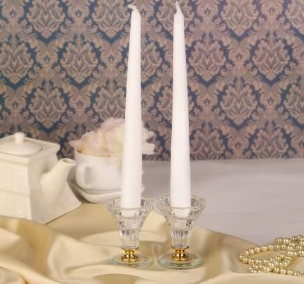 Античные свечи 25 см, 2 шт, белый 001101