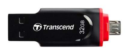 USB-флешка Transcend JetFlash 340 32GB Red/Black (TS32GJF340)