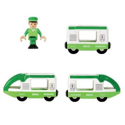 Зелёный пассажирский поезд (3 вагона) (33622)