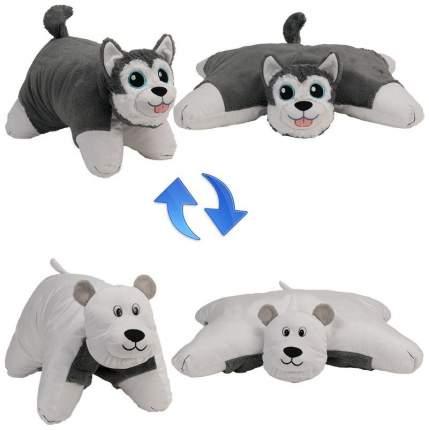 Подушка 1 Toy Вывернушка плюшевая Хаски Полярный Медведь