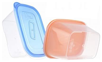 Контейнер для хранения пищи Good & Good REC 2-3/COL ONE TOUCH Прозрачный; оранжевый