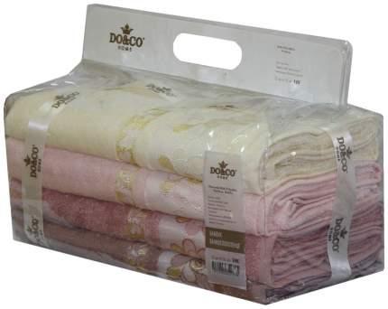 Набор полотенец DO&CO hanna розовый