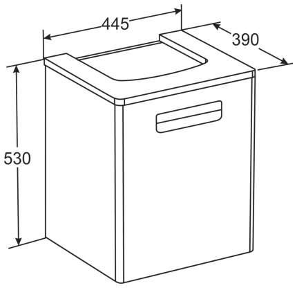 Тумба для ванной Roca ZRU9302880 без раковины