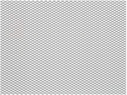 Сетка в бампер автомобиля Dollex 100х30см,серебро,Алюминий,ячейки 6х3,5мм,DKS-004