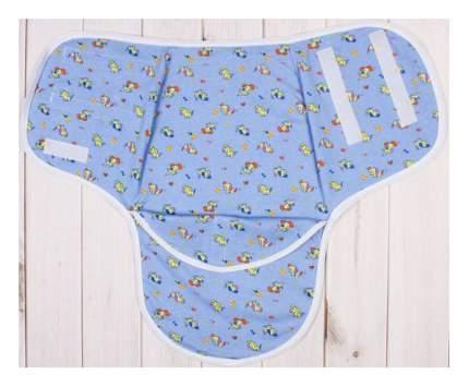 Пеленка-кокон на липучках, голубая, 50-68 см Детская линия
