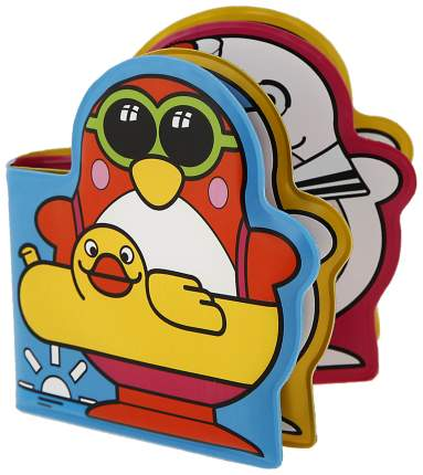 Игрушки для купания «Весёлые пингвины» с книжкой, на присоске Sima-Land