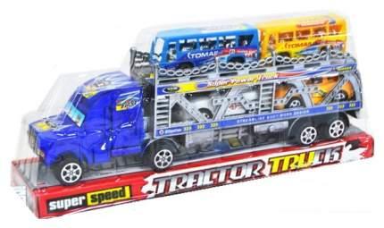 Инерционный трейлер Tractor Truck с машинками